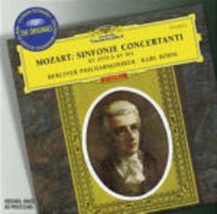 CD Sinfonie concertanti K297B, K364 di Wolfgang Amadeus Mozart
