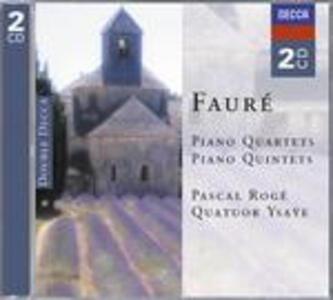 Quartetti con pianoforte - Quintetti con pianoforte - CD Audio di Gabriel Fauré,Pascal Rogé