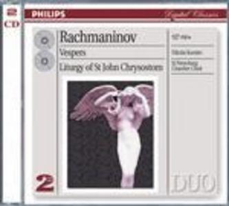CD Vespri op.37 - Liturgia di S. Giovanni Cristostomo op.31 di Sergei Vasilevich Rachmaninov