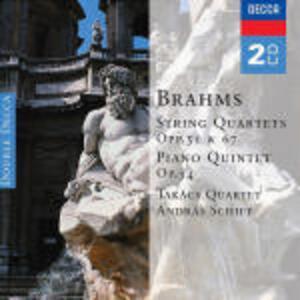 Quartetti per archi op.51, op.67 - Quintetto con pianoforte op.34 - CD Audio di Johannes Brahms,Andras Schiff,Takacs Quartet