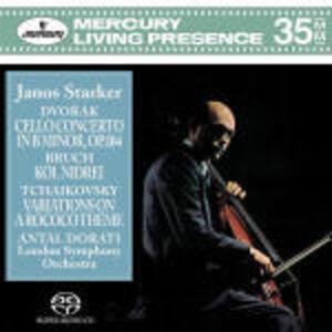 Concerto per violoncello / Kol Nidrei / Variazioni Rococò - SuperAudio CD di Antonin Dvorak,Pyotr Il'yich Tchaikovsky,Max Bruch,Antal Dorati,London Symphony Orchestra,Janos Starker