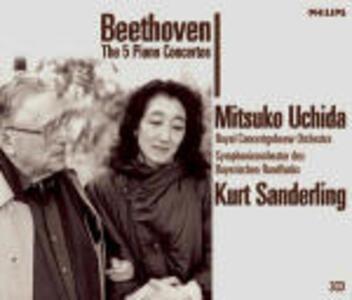 Concerti per pianoforte completi - CD Audio di Ludwig van Beethoven,Kurt Sanderling,Mitsuko Uchida,Royal Concertgebouw Orchestra,Orchestra Sinfonica della Radio Bavarese