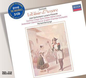 L'elisir d'amore - CD Audio di Gaetano Donizetti,Luciano Pavarotti,Joan Sutherland,Richard Bonynge,English Chamber Orchestra