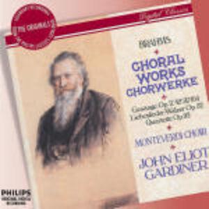 CD Opere corali di Johannes Brahms