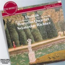 Quintetti con pianoforte - CD Audio di Antonin Dvorak,Sviatoslav Richter,Borodin String Quartet