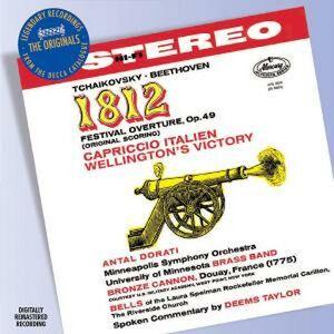 CD Capriccio italiano - Ouverture 1812 / La vittoria di Wellington Ludwig van Beethoven , Pyotr Il'yich Tchaikovsky