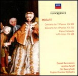 Concerto per pianoforte n.20 - Concerto per 2 pianoforti K365 - Concerto per 3 pianoforti K242 - CD Audio di Wolfgang Amadeus Mozart,Andras Schiff,Daniel Barenboim,Georg Solti,English Chamber Orchestra