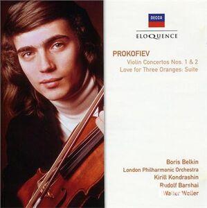 CD Concerti per violino n.1, n.2 di Sergei Sergeevic Prokofiev