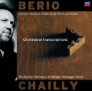CD Trascrizioni orchestrali da Purcell, Bach, Boccherini, Mozart di Luciano Berio