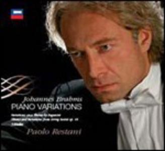 CD Variazioni per pianoforte di Johannes Brahms