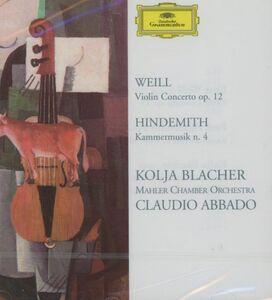 CD Concerto per violino / Kammermusik op.36 n.3 Paul Hindemith , Kurt Weill