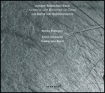Ich Hatte Viel Bekümmernis / Concerto per oboe - CD Audio di Johann Sebastian Bach,Benedetto Marcello,Heinz Holliger