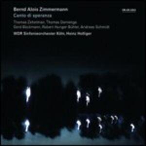 CD Canto di speranza di Bernd Alois Zimmermann