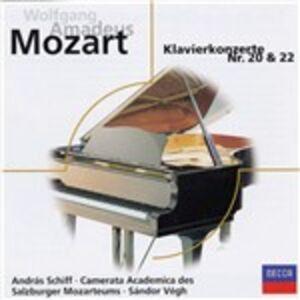 CD Concerti per pianoforte n.20, n.22 di Wolfgang Amadeus Mozart