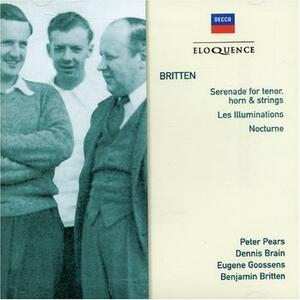 Serenade for Tenors - CD Audio di Benjamin Britten