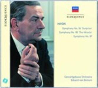 CD Sinfonie n.94, n.96, n.97 di Franz Joseph Haydn