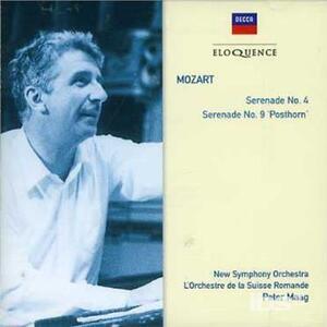 Mozart. Serenades 4 in D - CD Audio di Wolfgang Amadeus Mozart,Peter Maag