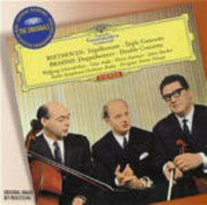 Triplo concerto / Doppio concerto - CD Audio di Ludwig van Beethoven,Johannes Brahms,Ferenc Fricsay,Radio Symphony Orchestra Berlino,Pierre Fournier,Wolfgang Eduard Schneiderhan,Géza Anda