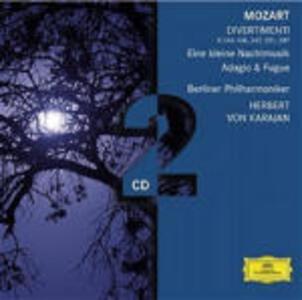 Eine Kleine Nachtmusik K525 - Divertimenti K136, K138, K247, K251, K287 - Adagio e fuga - CD Audio di Wolfgang Amadeus Mozart,Herbert Von Karajan,Berliner Philharmoniker