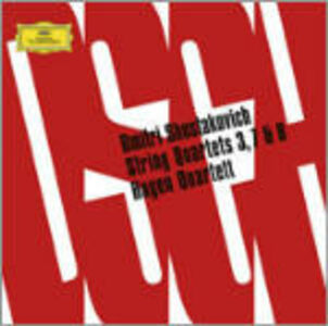 CD Quartetti per archi n.3, n.7, n.8 di Dmitri Shostakovich