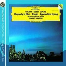 Rapsodia in blu / Appalachian Spring / Adagio - CD Audio di Leonard Bernstein,George Gershwin,Aaron Copland,Samuel Barber,Los Angeles Philharmonic Orchestra