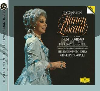 Manon Lescaut - CD Audio di Placido Domingo,Mirella Freni,Giacomo Puccini,Giuseppe Sinopoli,Philharmonia Orchestra