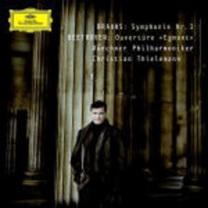 CD Sinfonia n.1 / Ouverture Egmont Ludwig van Beethoven , Johannes Brahms