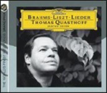 CD Lieder Johannes Brahms , Franz Liszt