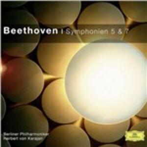 Foto Cover di Sinfonie n.5, n.7, CD di Ludwig van Beethoven, prodotto da Deutsche Grammophon