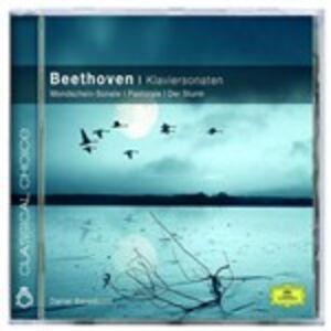 Foto Cover di Sonate per pianoforte n.14, n.15, n.17, CD di Ludwig van Beethoven,Daniel Barenboim, prodotto da Deutsche Grammophon