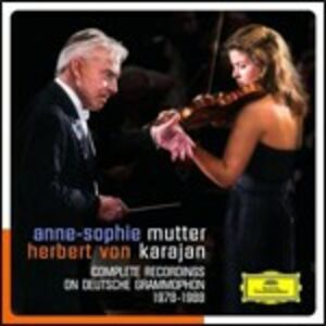 Foto Cover di Complete Recordings on Deutsche Grammophon 1978-1988, CD di Herbert Von Karajan,Anne-Sophie Mutter, prodotto da Deutsche Grammophon