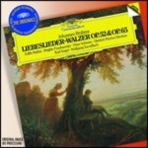 CD Liebeslieder-Walzer op.52, op.65 - Quartetti op.64 di Johannes Brahms
