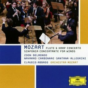 CD Sinfonia concertante - Concerto per flauto e arpa di Wolfgang Amadeus Mozart