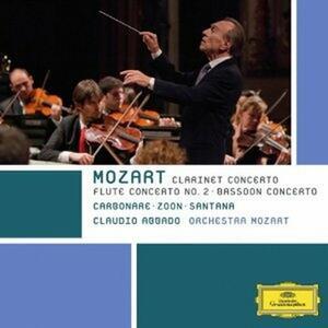Concerto per clarinetto - Concerto per fagotto - Concerto per flauto - CD Audio di Wolfgang Amadeus Mozart,Claudio Abbado,Orchestra Mozart,Alessandro Carbonare