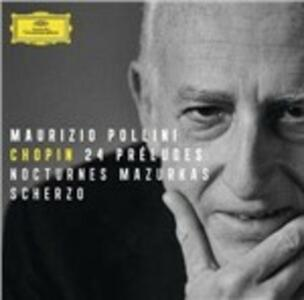 24 Preludi - Mazurke - Notturni op.27 n.1, n.2 - CD Audio di Fryderyk Franciszek Chopin,Maurizio Pollini