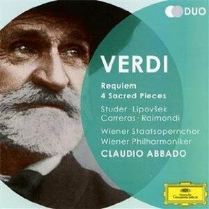 Requiem - 4 Pezzi sacri - CD Audio di Giuseppe Verdi,José Carreras,Cheryl Studer,Ruggiero Raimondi,Marjana Lipovsek,Claudio Abbado,Wiener Philharmoniker