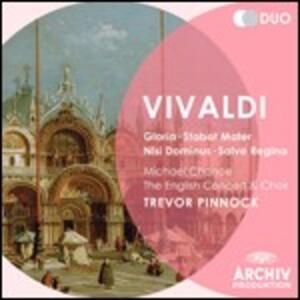Gloria - Nisi Dominus - Stabat Mater - Salve Regina - CD Audio di Antonio Vivaldi,English Concert,Trevor Pinnock