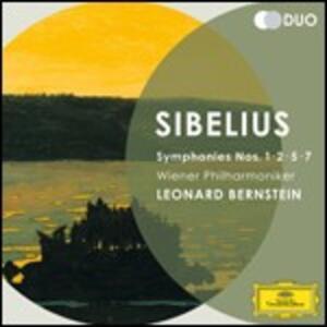 Sinfonie n.1, n.2, n.5, n.7 - CD Audio di Leonard Bernstein,Jean Sibelius,Wiener Philharmoniker