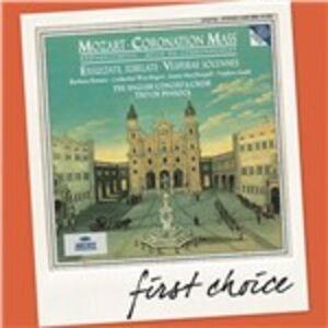 CD Messa dell'Incoronazione - Exsultate Jubilate - Vespri Solenni del Confessore di Wolfgang Amadeus Mozart