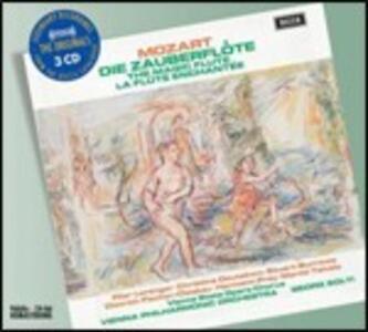 Il flauto magico (Die Zauberflöte) - CD Audio di Wolfgang Amadeus Mozart,Georg Solti,Pilar Lorengar,Martti Talvela,Dietrich Fischer-Dieskau,Christina Deutekom,Stuart Burrows,Wiener Philharmoniker