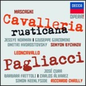 Cavalleria rusticana / Pagliacci - CD Audio di Pietro Mascagni,Ruggiero Leoncavallo,Jessye Norman,José Cura,Simon Keenlyside,Riccardo Chailly,Semion Bychkov,Royal Concertgebouw Orchestra,Orchestre de Paris