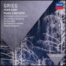 Peer Gynt Suite - Concerto per pianoforte - CD Audio di Edvard Grieg,Sir Colin Davis,Herbert Blomstedt,Stephen Kovacevich,San Francisco Symphony Orchestra,BBC Symphony Orchestra