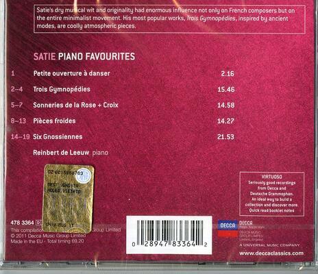 Gymnopedies - Gnossiennes - CD Audio di Erik Satie,Reinbert de Leeuw - 2