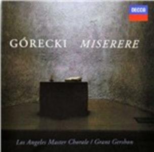 CD Miserere di Henryk Mikolaj Gorecki