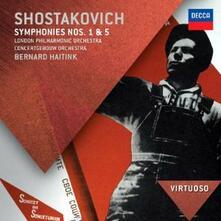 Sinfonie n.1, n.5 - CD Audio di Dmitri Shostakovich,Bernard Haitink,Royal Concertgebouw Orchestra