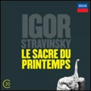 CD La sagra della Primavera - Sinfonia in 3 movimenti - Agon di Igor Stravinsky