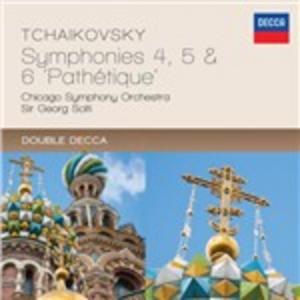 CD Sinfonie n.4, n.5, n.6 di Pyotr Il'yich Tchaikovsky