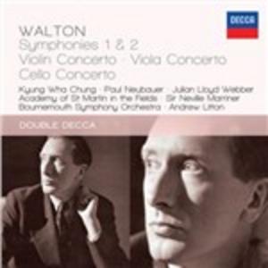 CD Sinfonie n.1, n.2 - Concerto per violoncello - Concerto per viola di William Walton