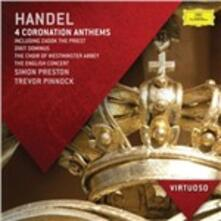Coronation Anthems - CD Audio di English Concert,Trevor Pinnock,Westminster Cathedral Choir,Georg Friedrich Händel,Simon Preston