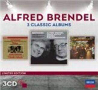 Foto Cover di 3 Classic Albums, CD di Alfred Brendel, prodotto da Decca